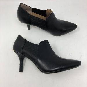 Calvin Klein Women Janel Black Leather Booties 7.5